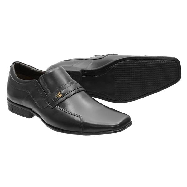 Sapato Social Francalce 193 preto Em couro legitimo