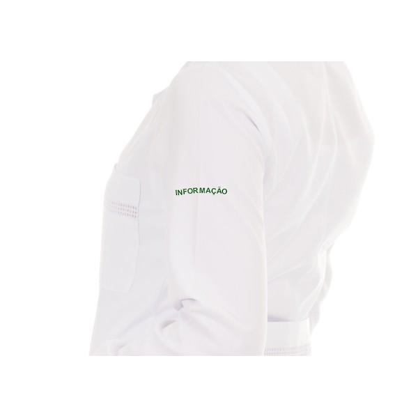 informação bordado verde - Manga