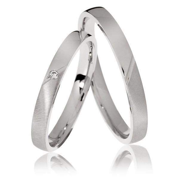 Alianças Pisa ♥ Namoro e Compromisso em Prata 0,950