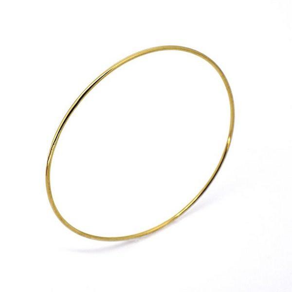 Pulseira De Ouro 18k Algema De 1,2mm Com 7,0cm