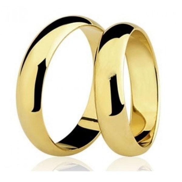 Par de Aliança Casamento de Ouro 18k Com 5mm Tradicional