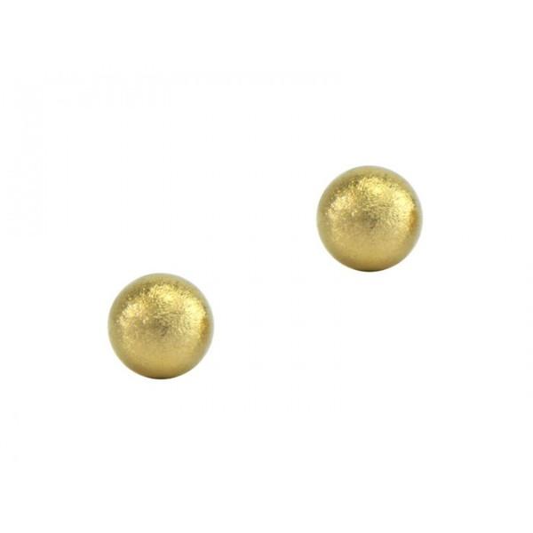 Brinco De Ouro 18k Bolinha 3mm - Fosca