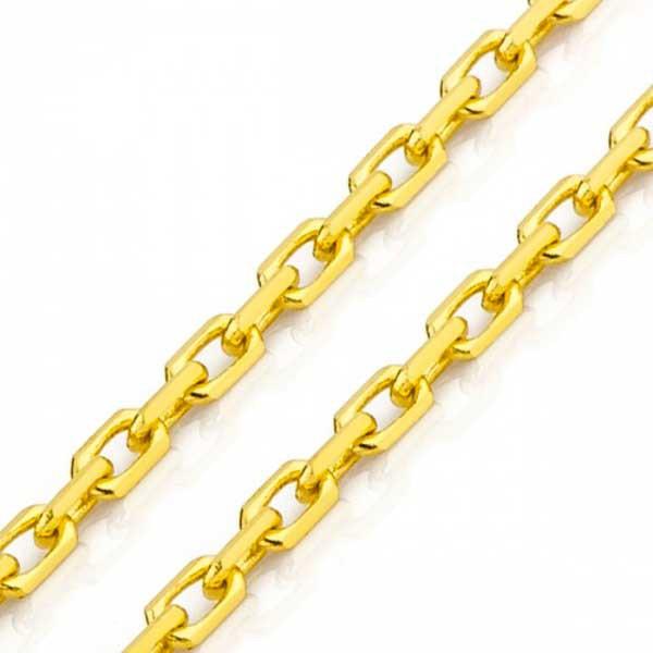 Corrente De Ouro 18k Bandeirante De 3,0mm Com 50cm