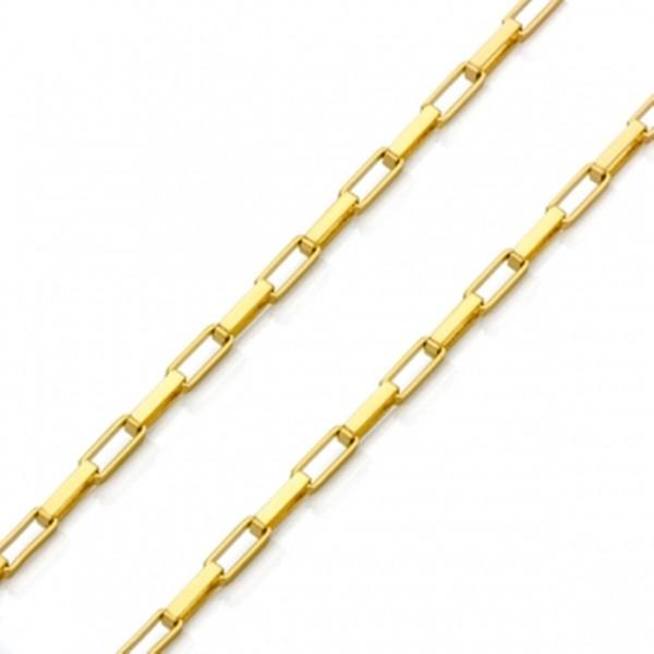 Corrente De Ouro 18k Veneziana Longa De 4,2mm Com 70cm