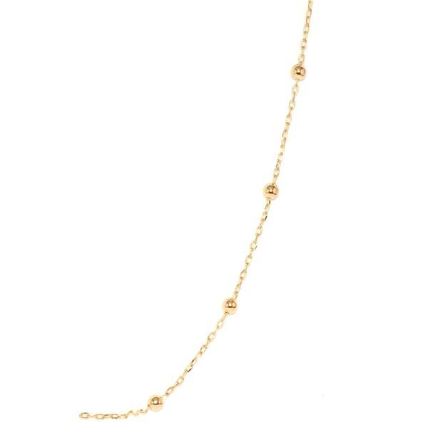 Corrente De Ouro 18k Cartie Com Bolinhas De 2,3mm Com 45cm