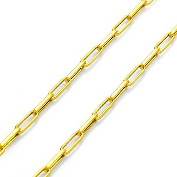 Corrente De Ouro 18k Cartie Ovalada De 2,5mm Com 60cm