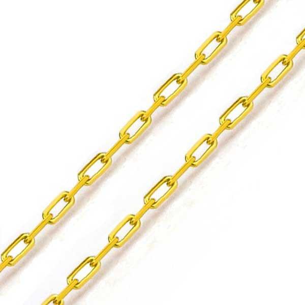 Corrente De Ouro 18k Cartie De 1,0mm Com 70cm