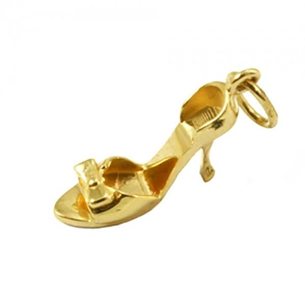 Pingente De Ouro 18k Sapato Alto