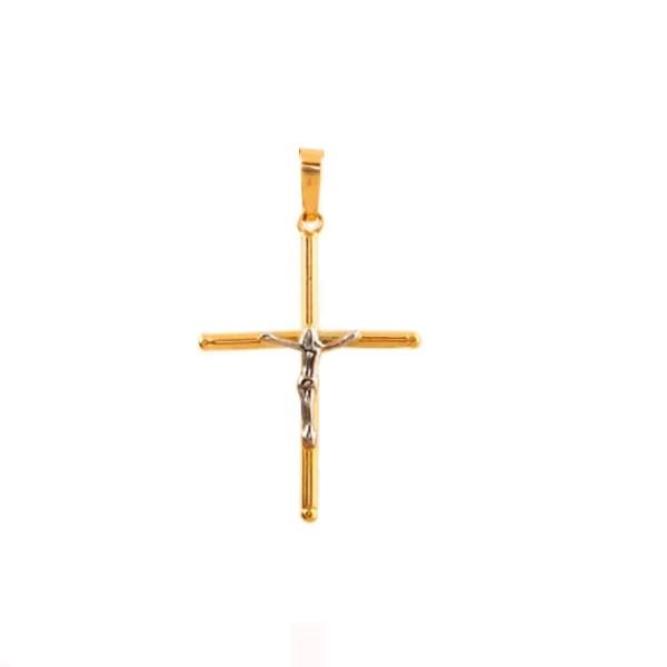 Pingente de Ouro 18k Crucifixo Com 21mm
