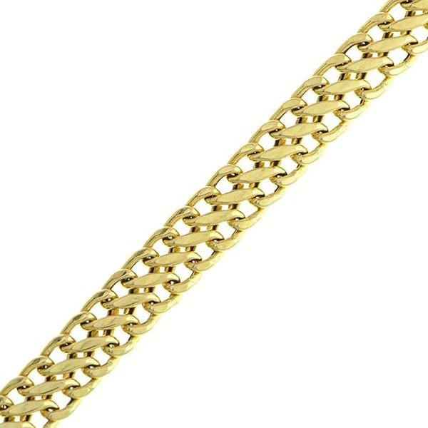 Pulseira De Ouro 18k Lacraia De 4,0mm Com 19cm