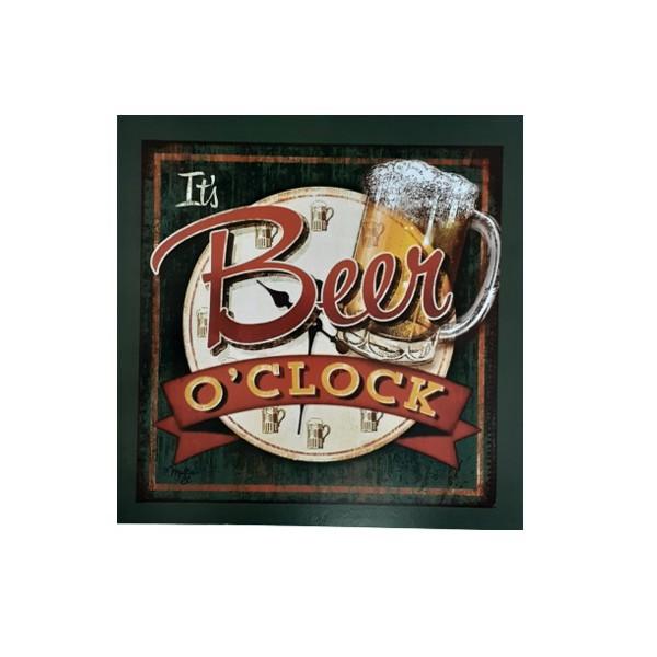 QUADRO 30X30CM BEER O CLOCK