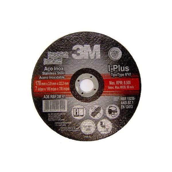 """Disco de Corte Inox 4 1/2 X 3mm Com Furo de 7/8"""" 3M"""