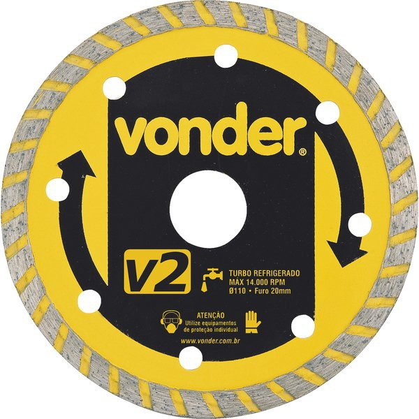 Disco de Corte Diamantado Turbo 4 1/2'' Vonder
