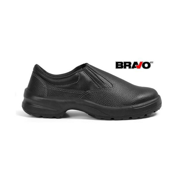 Sapato de Couro Com Bico em PVC Bracol linha Bravo
