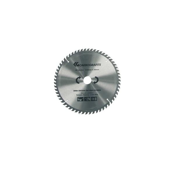 """Disco de Serra Circular para Madeira 12"""" com furo de 1 1/4"""" (300mm x 30mm x 48 dentes) - Carbografite"""