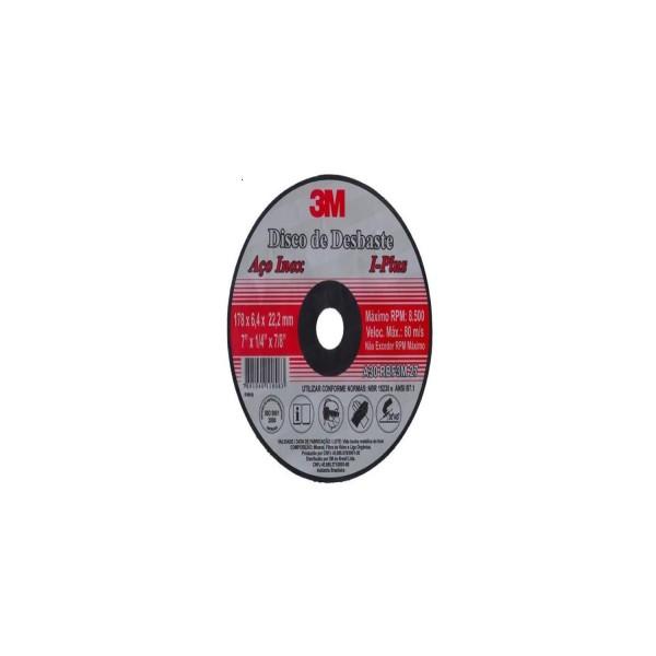 Disco de Desbaste Inox 4 1/2 x 6,4mm com Furo de 22,2mm 3M