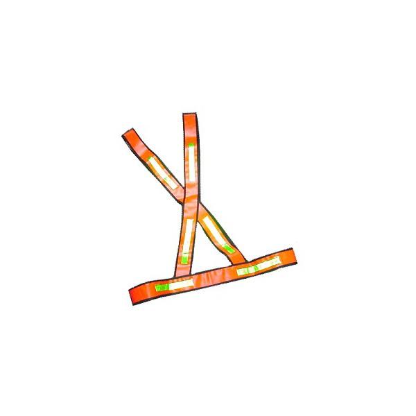 Colete X em PVC Laranja Refletivo Brascamp