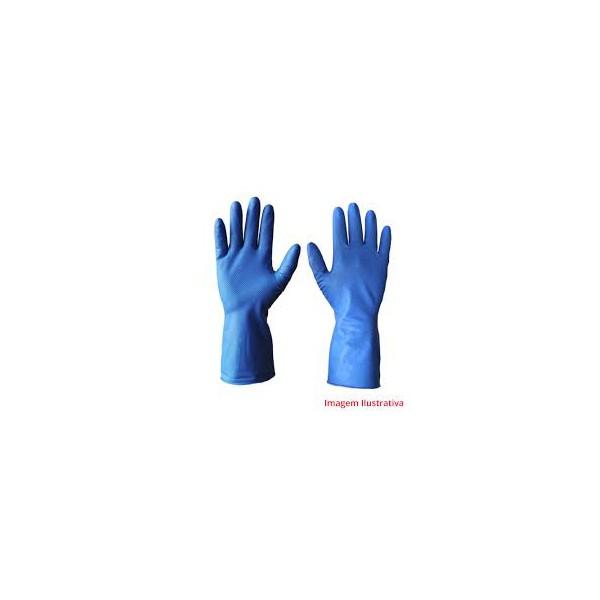 Luva de Latex Azul Household