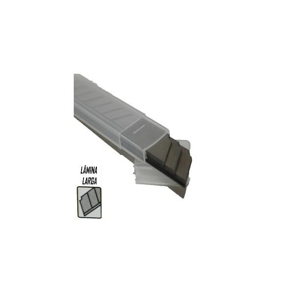 Lâmina para Estilete Larga 18mm Caixa com 10 unidades Carbografite