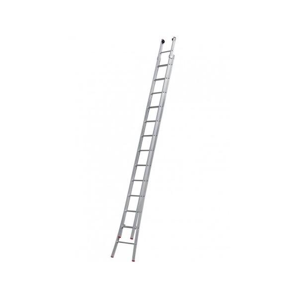 Escada Extensiva Aluminio 13 x 2 Extensiva 6,45m Fechada 3,86m Pintor 3,76m 26 Degraus Mor