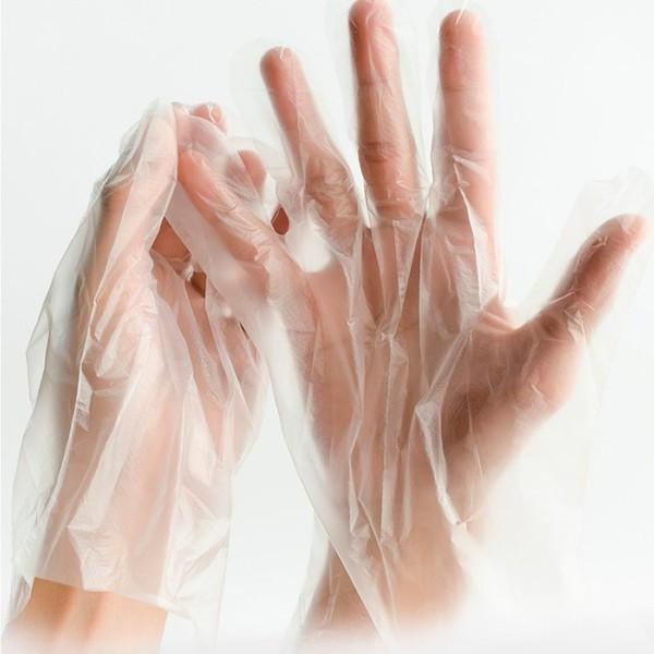 Luva Plastica Polietileno Caixa com 100 Unidades