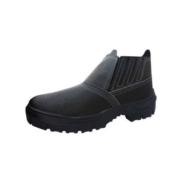 Bota de Seguranca Preta com Elástico com Bico PVC Imbiseg