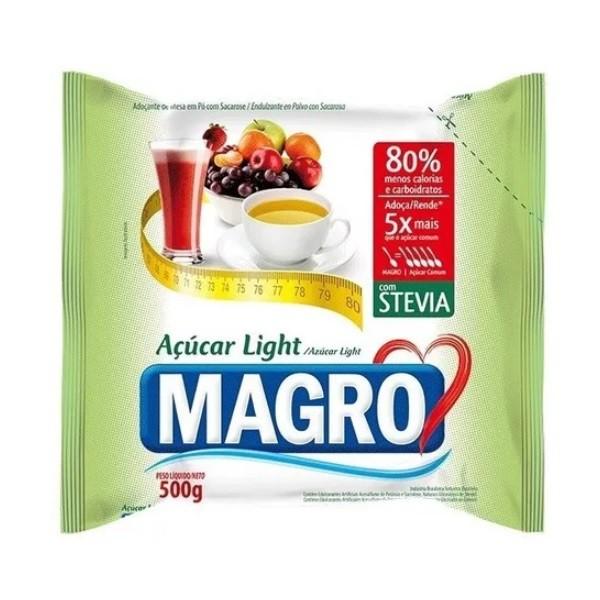 Açúcar Magro Light Com Stévia Refil 500g