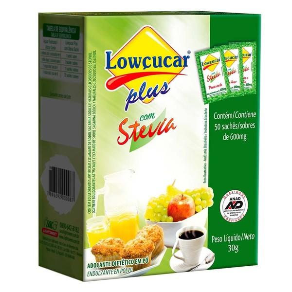 Adoçante Plus com Stévia 50 sachês x 0,6g