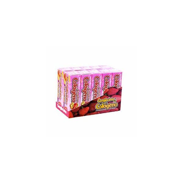 Balas Mastigáveis Gengibre Morango com Colágeno Display 10x40g