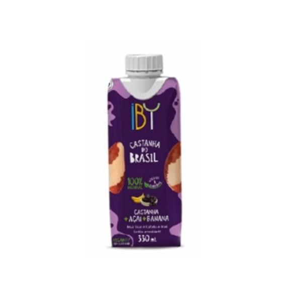 Bebida de Castanha/Açaí/Banana Vegetal Vegana 330ml