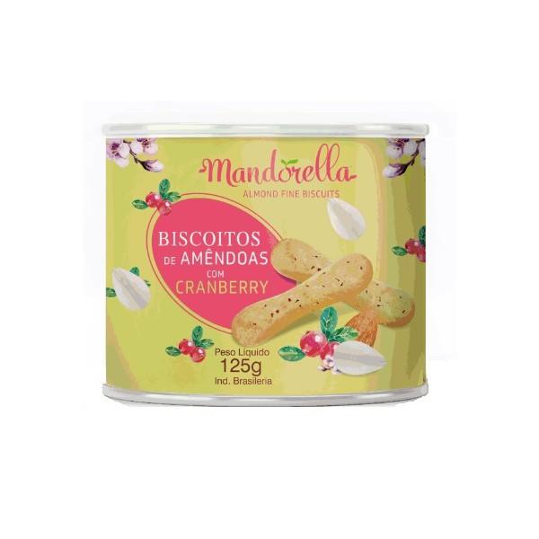 Biscoito de Amêndoas e Cranberry Mandorella 125g