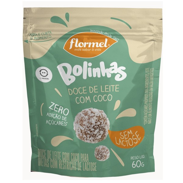 Bolinhas Doce de Leite com Coco Zero Lactose 60g