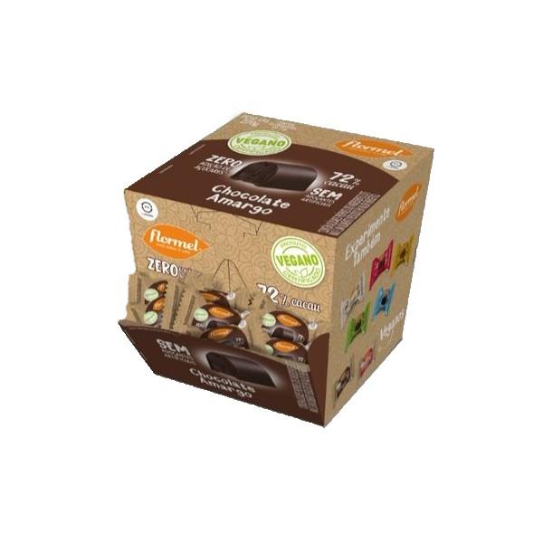 Bombom Chocolate Amargo 73% Cacau Vegano Display 18x15g
