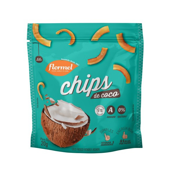 Chips de Coco Display 8 x 20g