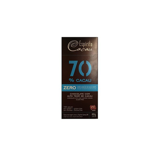Chocolate 70% Cacau Zero 80g