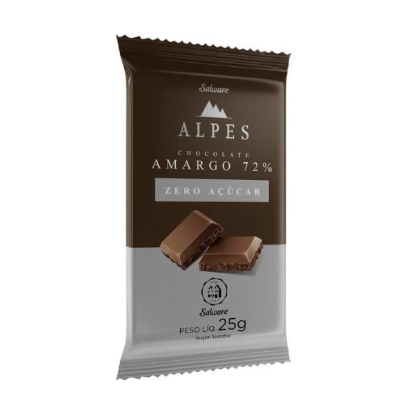Chocolate Amargo 72% Zero Açúcar Display 16x25g