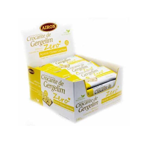 Crocante de Gergelim Linhaça e Castanha de Caju Sem Açúcar Display 24x10g