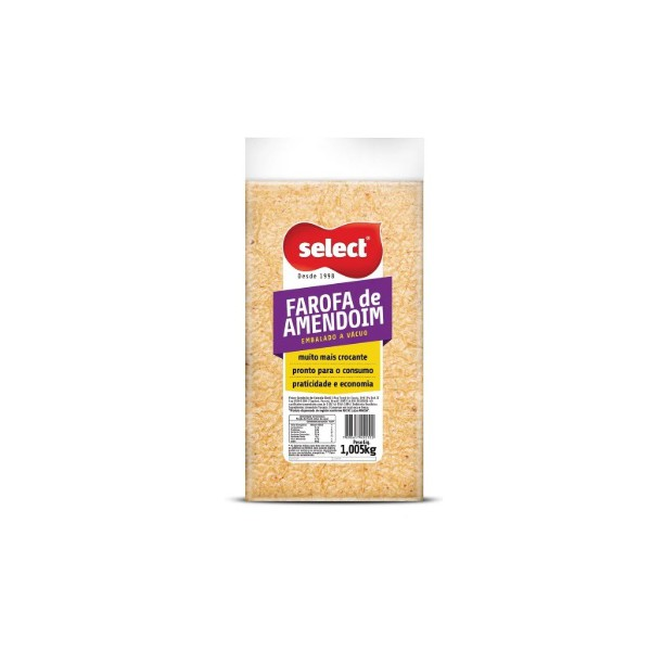 Farofa de Amendoim Á Vácuo 1,005kg