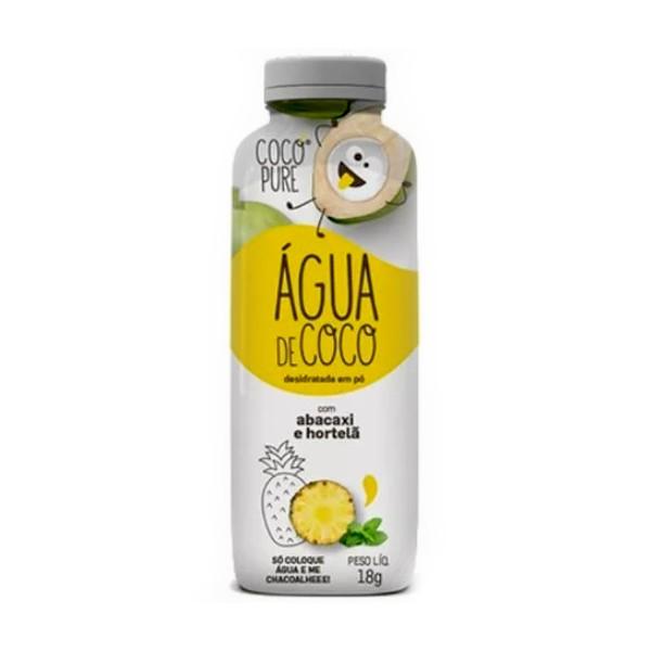 Água de Coco em Pó Abacaxi e Hortelã 18g