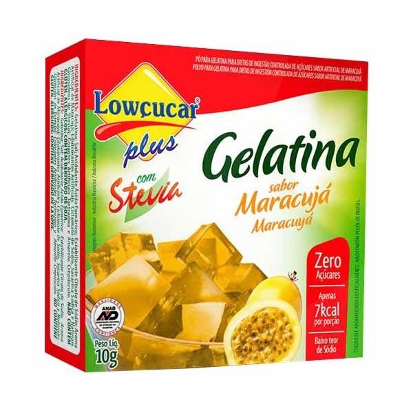Gelatina Maracujá Com Stevia 10g