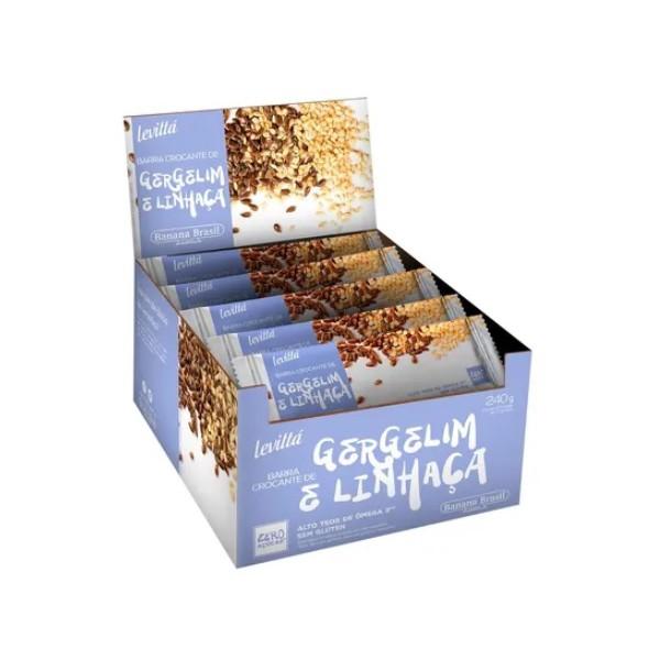 Levittá Crocante de Gergelim com Linhaça display 24un x 10g