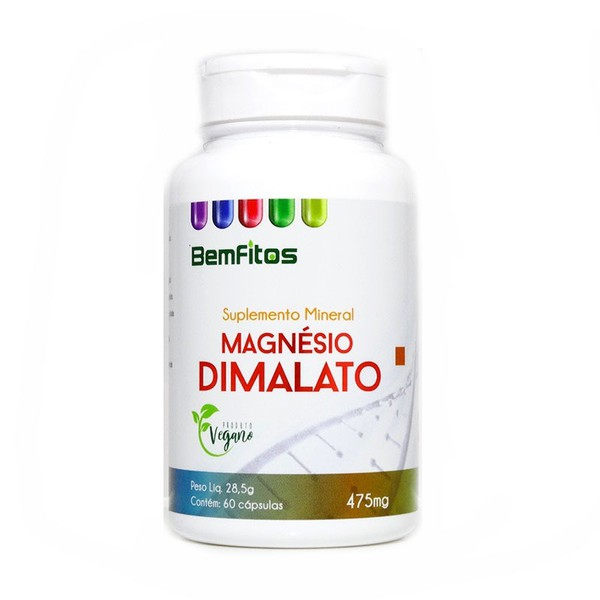 Magnésio Dimalato 60 cápsulas x 475mg