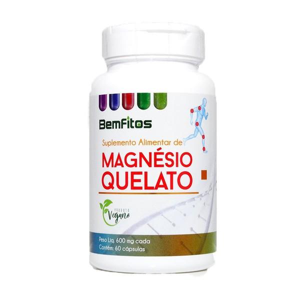 Magnésio Quelato Vegano 60 x 600mg