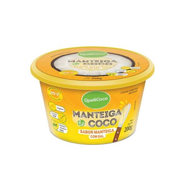 Manteiga de Coco Sabor Manteiga Com Sal 200g