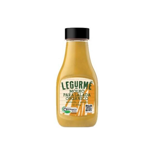 Molho Orgânico Para Salada Mostarda e Melado Vegano 270g