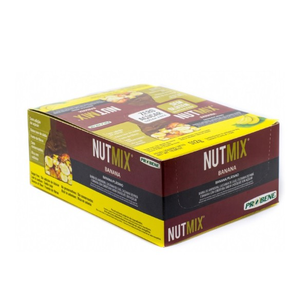 Nutmix Banana Cobertura Chocolate Display 16 x 32g