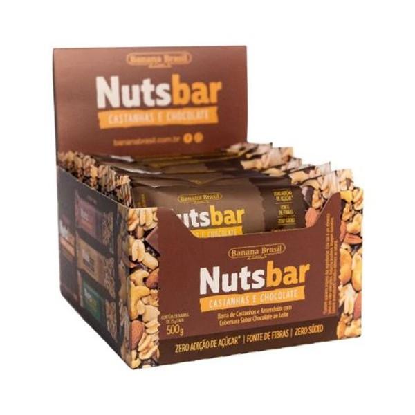 Nutsbar Castanhas e Chocolate Display 12 x 25g