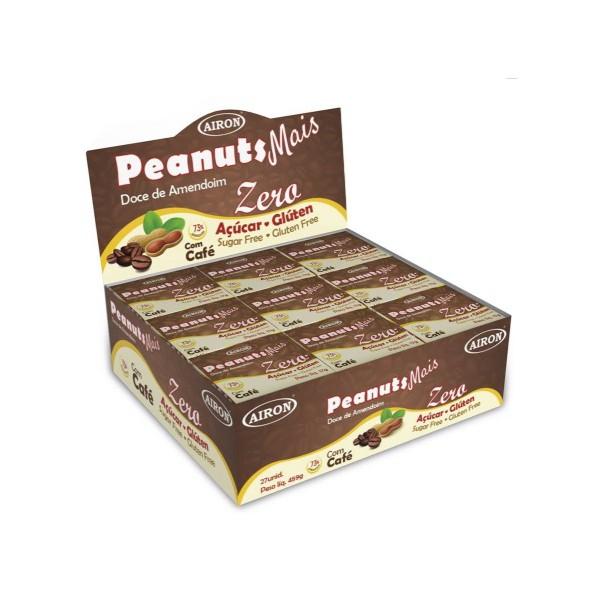 Paçoca Peanuts Mais Zero Açúcar com Café Display 27x17g