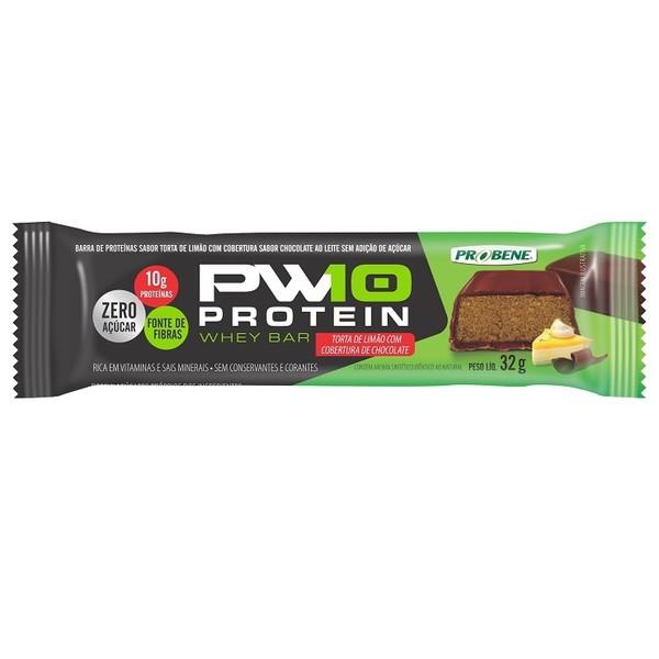 PW10 Protein Whey Bar Zero Açúcar Torta de Limão Cobertura Chocolate Display 12 x 32g