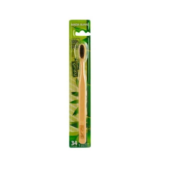 Escova Natural Bambu e Carvão 34 tufos